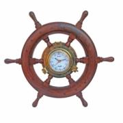 Timón con reloj Ø 45 cm
