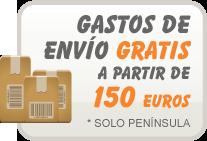 Gastos de envío gratis a partir de 150 euros. Sólo península.